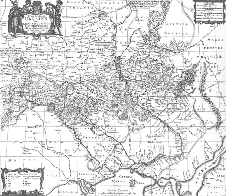 Antiquarian Map of Ukraine